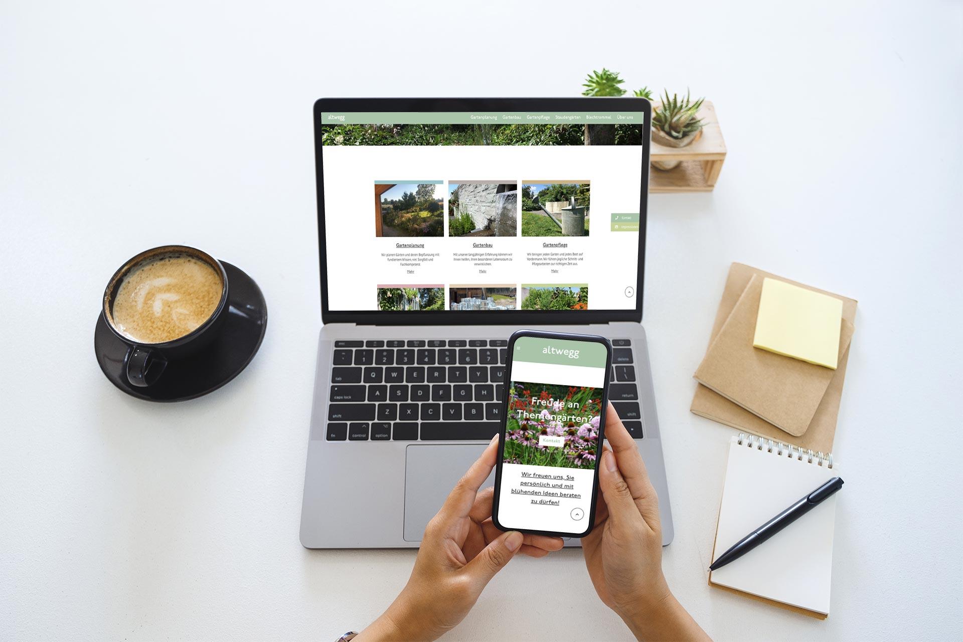 Yunikon mobile optimierte Webseite